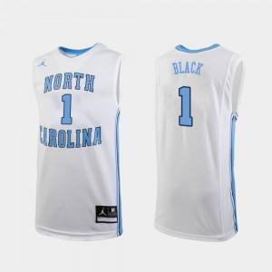 Men Leaky Black UNC Jersey White Replica College Basketball #1 628341-540