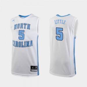 #5 College Basketball White Nassir Little UNC Jersey Mens Replica 872303-225