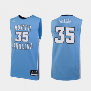 Men's Carolina Blue Replica Ryan McAdoo UNC Jersey #35 College Basketball 246271-914