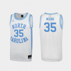 Special College Basketball March Madness Men #35 White Ryan McAdoo UNC Jersey 789480-126
