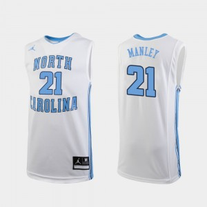 Sterling Manley UNC Jersey #21 College Basketball Replica Mens White 963039-267
