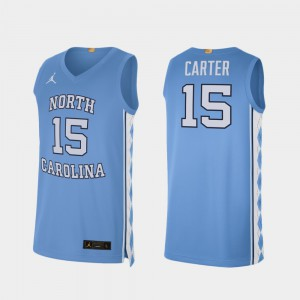 For Men's College Basketball Vince Carter UNC Jersey #15 Alumni Limited Carolina Blue 403403-901