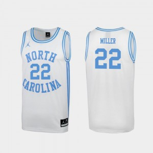White For Men #22 March Madness Walker Miller UNC Jersey Special College Basketball 643771-732