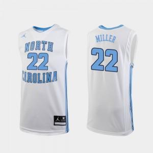 College Basketball Men's #22 Walker Miller UNC Jersey White Replica 435338-567