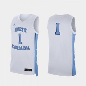 UNC Jersey White College Basketball Replica #1 Men 553584-485