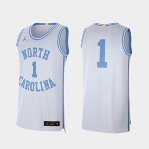 White #1 For Men Retro Limited College Basketball UNC Jersey 917750-613