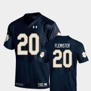 C'Bo Flemister Notre Dame Jersey #20 College Football Men Replica Navy 482870-571