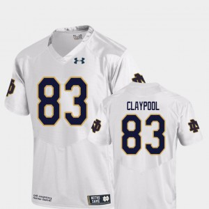 For Men Replica College Football White Chase Claypool Notre Dame Jersey #83 758368-820