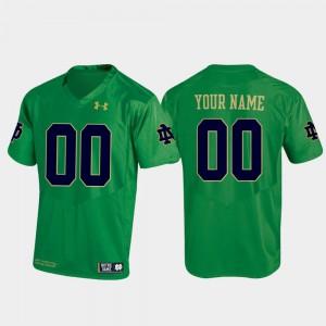 Replica Men #00 Football Notre Dame Customized Jerseys Kelly Green 894563-435