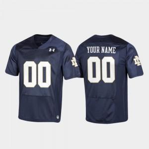 Notre Dame Custom Jerseys Football #00 Navy Men's Replica 607158-854