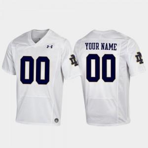 Replica For Men's White Notre Dame Custom Jerseys Football #00 620235-230