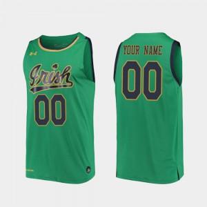 Replica Kelly Green For Men Notre Dame Custom Jerseys #00 2019-20 College Basketball 301805-445
