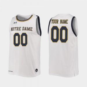 Replica #00 Notre Dame Customized Jerseys Men's 2019-20 College Basketball White 419632-597