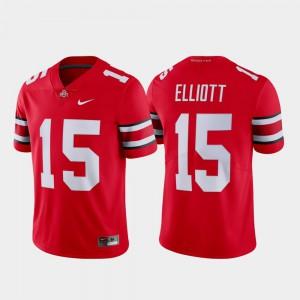 #15 Scarlet Ezekiel Elliott OSU Jersey For Men's Limited Name & Number 606327-412
