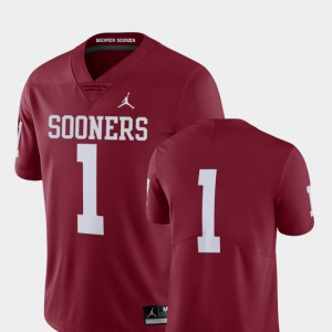 OU Jersey College Football #1 Limited Crimson Mens 354091-384