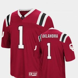 Foos-Ball Football #1 Colosseum OU Jersey Crimson For Men's 405251-117