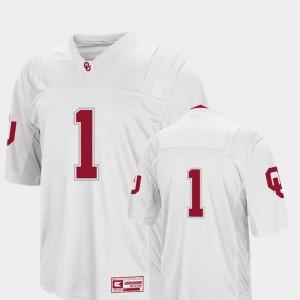 #1 White Men College Football OU Jersey Colosseum 928113-349
