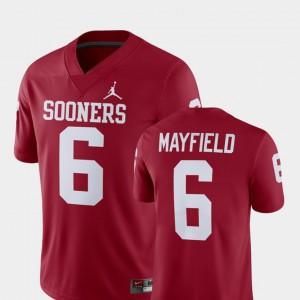 Alumni Football Game For Men's #6 Baker Mayfield OU Jersey Player Crimson 186971-975