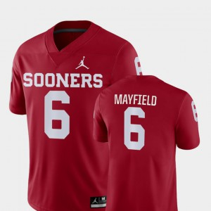 Baker Mayfield OU Jersey Crimson #6 College Football For Men's Game 448298-174