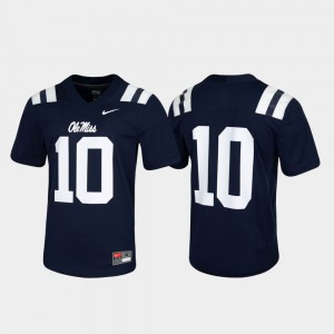 Navy Ole Miss Jersey Untouchable For Men's #10 Game 302946-591