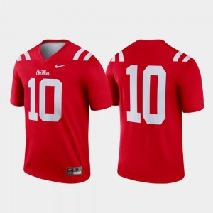 Ole Miss Jersey Legend Mens Red #10 College Football 513970-573