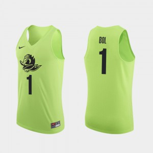 College Basketball Authentic Bol Bol Oregon Jersey Apple Green Men's #1 489904-133
