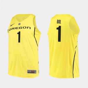 Yellow Authentic College Basketball Men #1 Bol Bol Oregon Jersey 732996-151