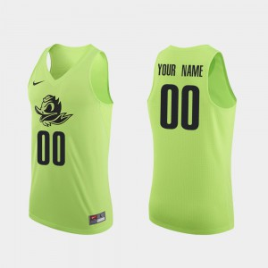 College Basketball #00 Men's Apple Green Authentic Oregon Customized Jersey 879686-747