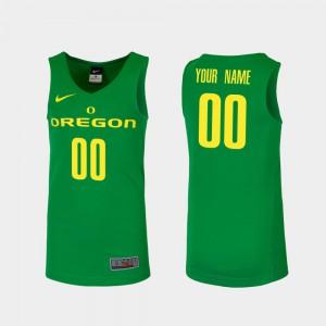 Men's Green Oregon Custom Jersey #00 College Basketball Replica 500156-850