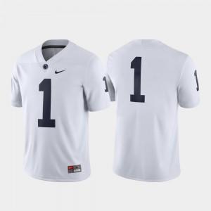 White #1 Penn State Jersey Men's Game 707614-868