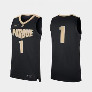 For Men's College Basketball Replica #1 Purdue Jersey Black 647404-924