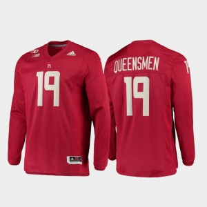 For Men's Rutgers Jersey Strategy Long Sleeve College Football 150th Anniversary #19 Scarlet 512882-496