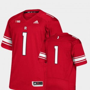 Rutgers Jersey Men's College Football Scarlet Premier #1 535849-549