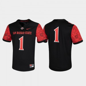 San Diego State Jersey Black #1 Game Mens Untouchable 439552-392