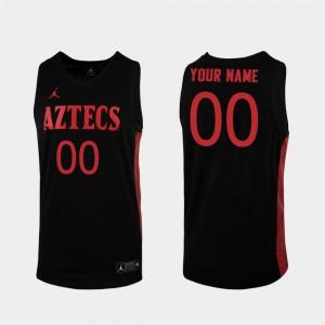 Men College Basketball Black Replica San Diego State Customized Jerseys #00 812062-992
