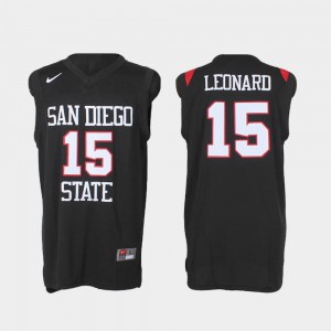 Kawhi Leonard San Diego State Jersey Authentic #15 Mens Black College Basketball 872536-641