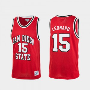 Authentic College Basketball Men's Kawhi Leonard San Diego State Jersey Red #15 465718-464