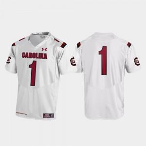 White Replica College Football South Carolina Jersey #1 For Men 290762-520