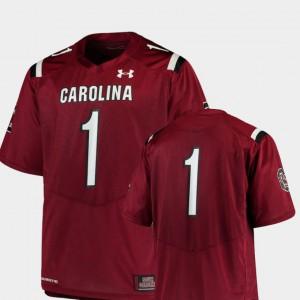 South Carolina Jersey College Football #1 Men's Garnet Team Replica 598459-242