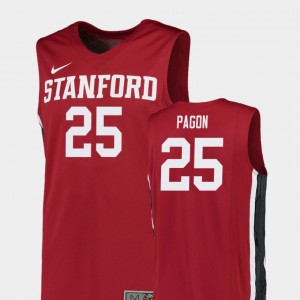 #25 College Basketball Red Blake Pagon Stanford Jersey Replica Mens 328678-322