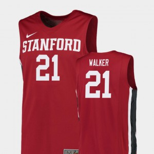 Cameron Walker Stanford Jersey For Men's College Basketball Replica Red #21 371665-805