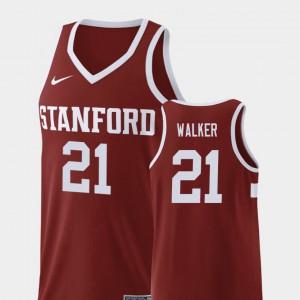 College Basketball #21 Replica Wine Cameron Walker Stanford Jersey For Men 935376-193