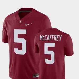 Men's Alumni Football Game Cardinal #5 Player Christian McCaffrey Stanford Jersey 939125-616