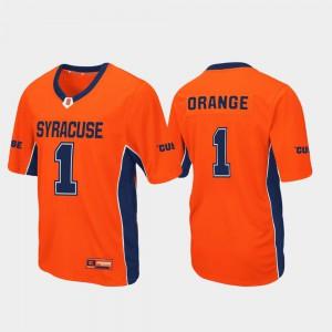 Syracuse Jersey Max Power For Men Football #1 Orange 503538-262