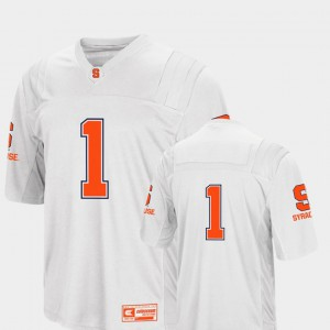 White Syracuse Jersey #1 College Football Colosseum For Men's 175076-531