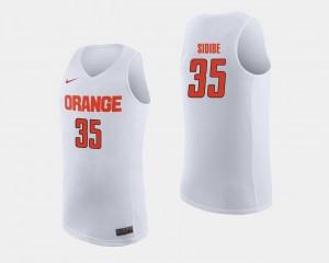 White #35 Bourama Sidibe Syracuse Jersey College Basketball For Men's 249151-233