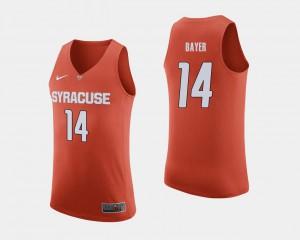 #14 Orange Braedon Bayer Syracuse Jersey College Basketball For Men's 631181-554