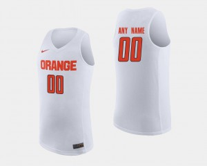 #00 Syracuse Customized Jerseys For Men's White College Basketball 645724-531
