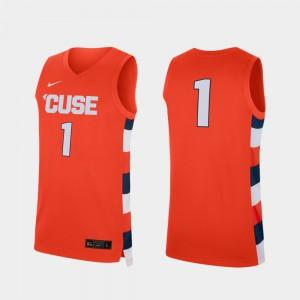 Syracuse Jersey College Basketball Replica #1 Men Orange 615942-536