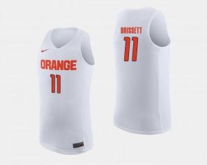 White Men #11 College Basketball Oshae Brissett Syracuse Jersey 332465-884